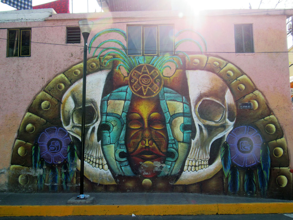 Wall art in Xochimilco Mexico