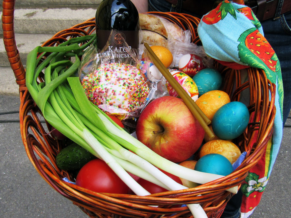 Easter Basket at St. Volodymyr's Cathedral
