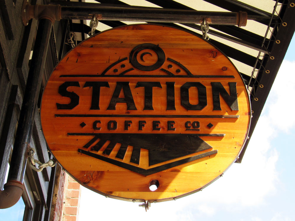 Station Coffee Signage in Medicine Hat