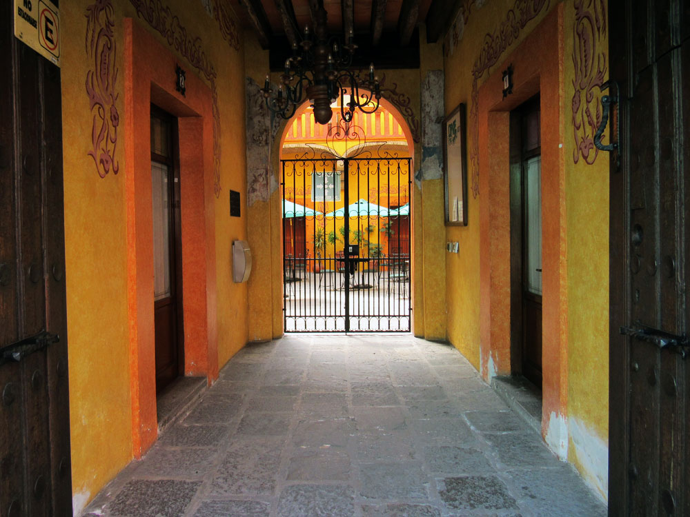Orange Door in Puebla