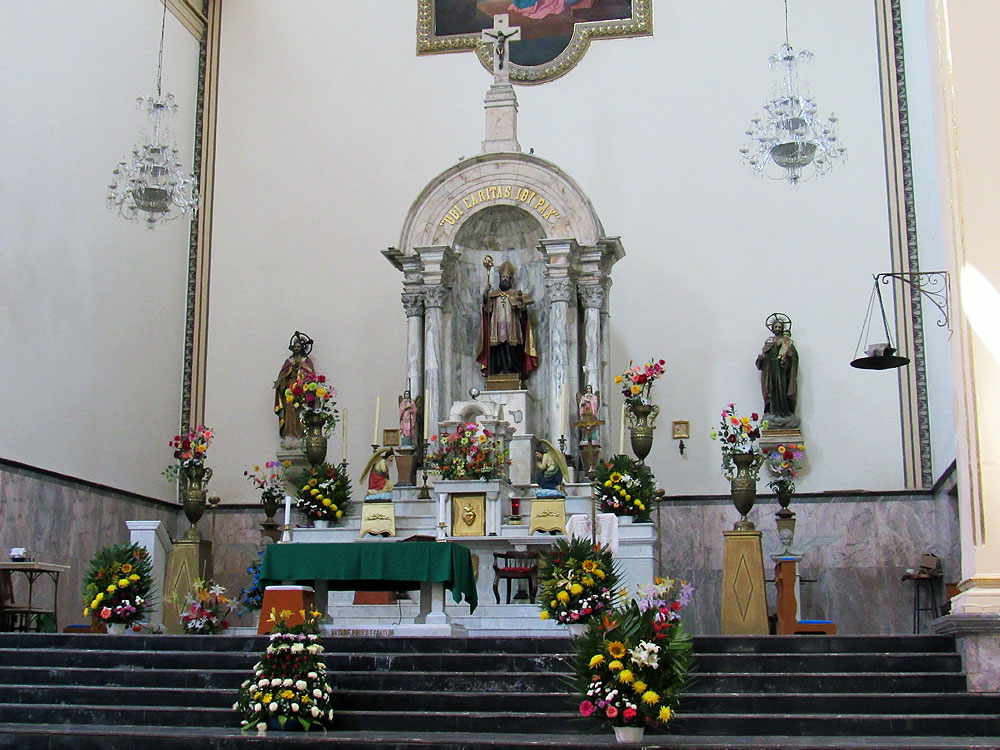 The Church of San Agustín dome