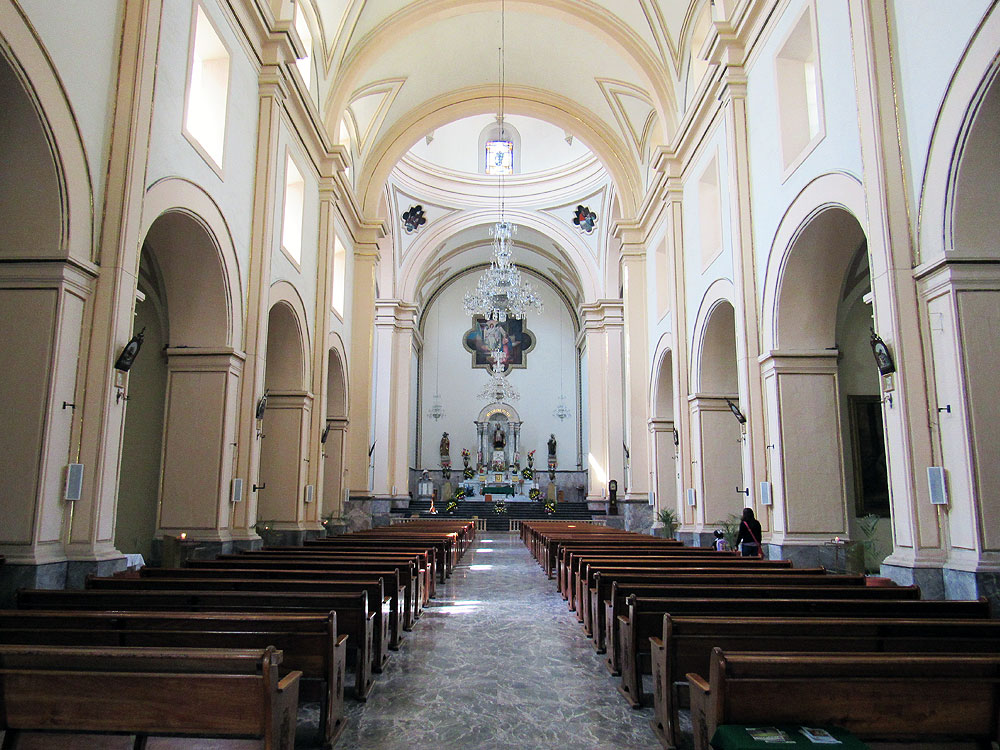 The Church of San Agustín inside