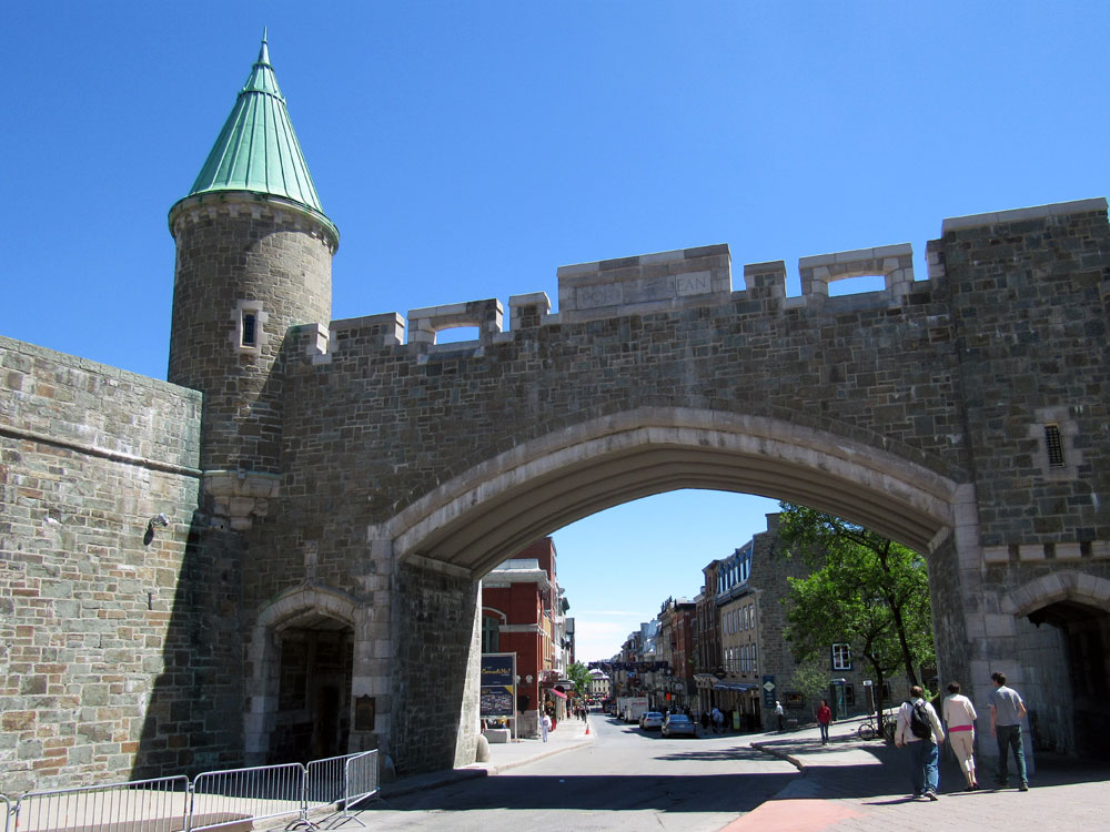 Quebec City fortified walls