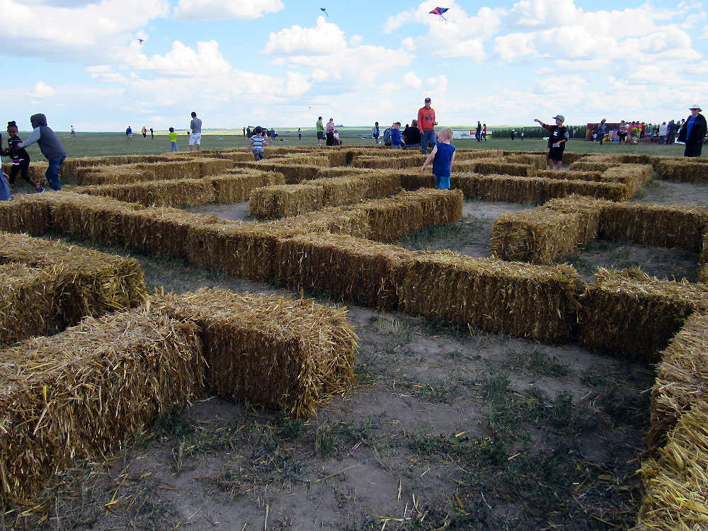 Hay maze at Windscape