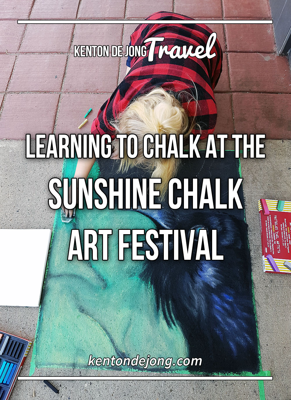 Learning to Chalk at the Sunshine Chalk Art Festival
