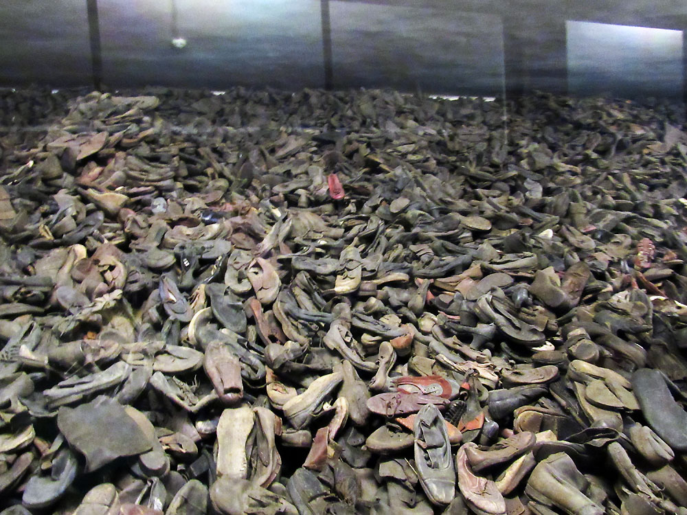 The shoes inside Auschwitz