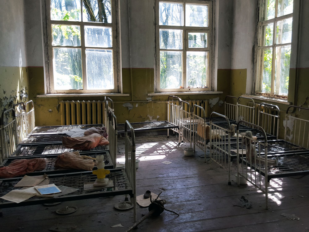 Children's bedroom in Pripyat