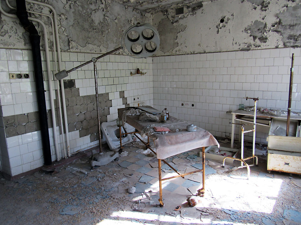 Operating table in Pripyat