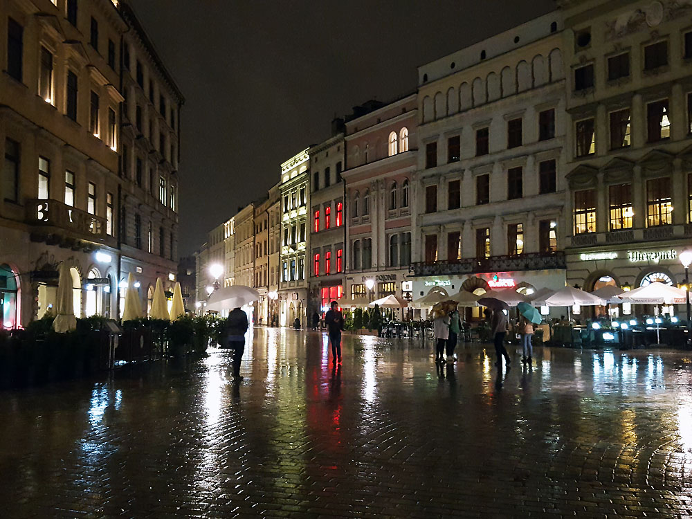 Rainy night in Krakow