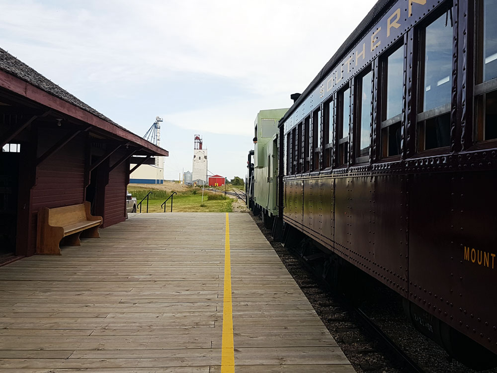 Southern Prairie Railway train in Ogema