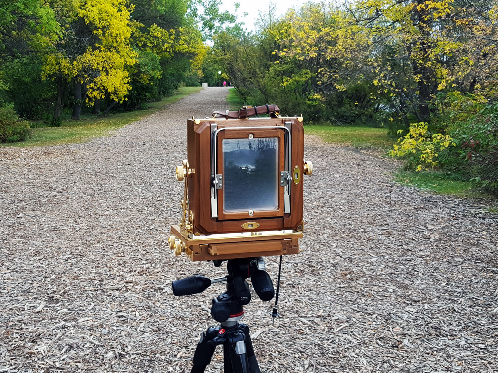 Old Fashion Camera on Modern Tripod