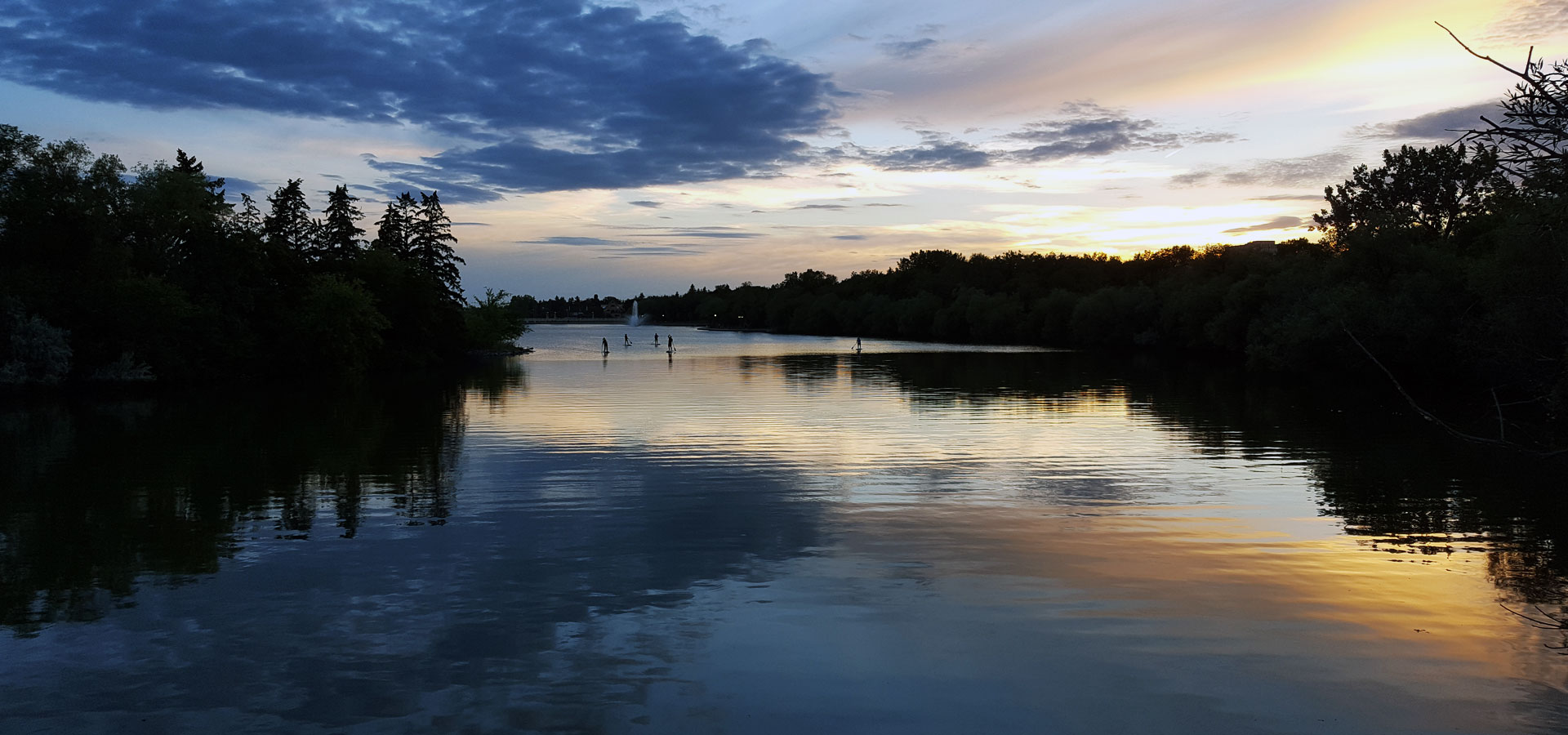 Wascana Lake during sunset
