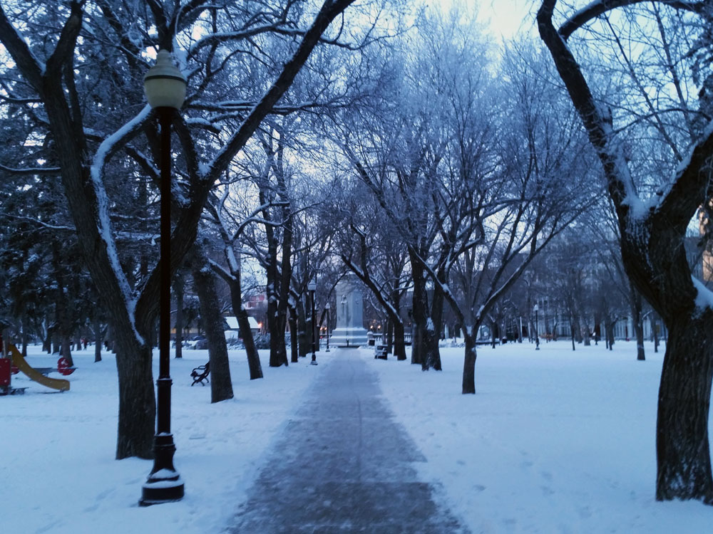 Victoria Park in the winter