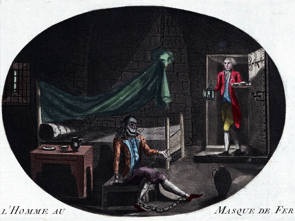 The Man in the Iron Mask in prison