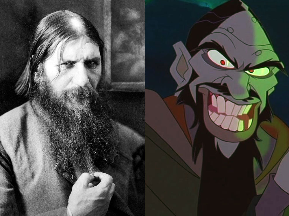 Real Grigori Rasputin and 20th Century Fox Version