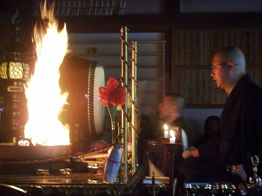 Buddhist Monks and Fire