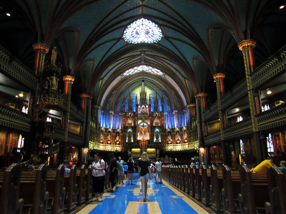Notre-Dame Basilica Church in Montreal