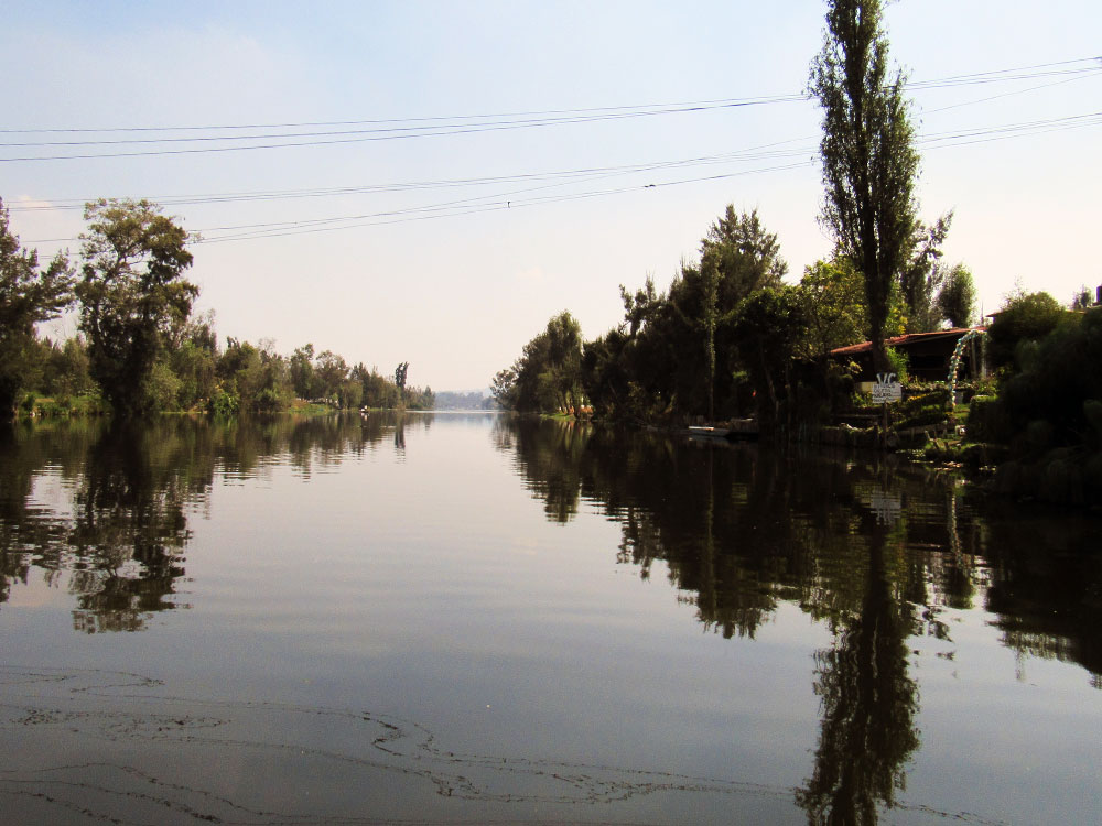 Canals of Xochimilco after the dock