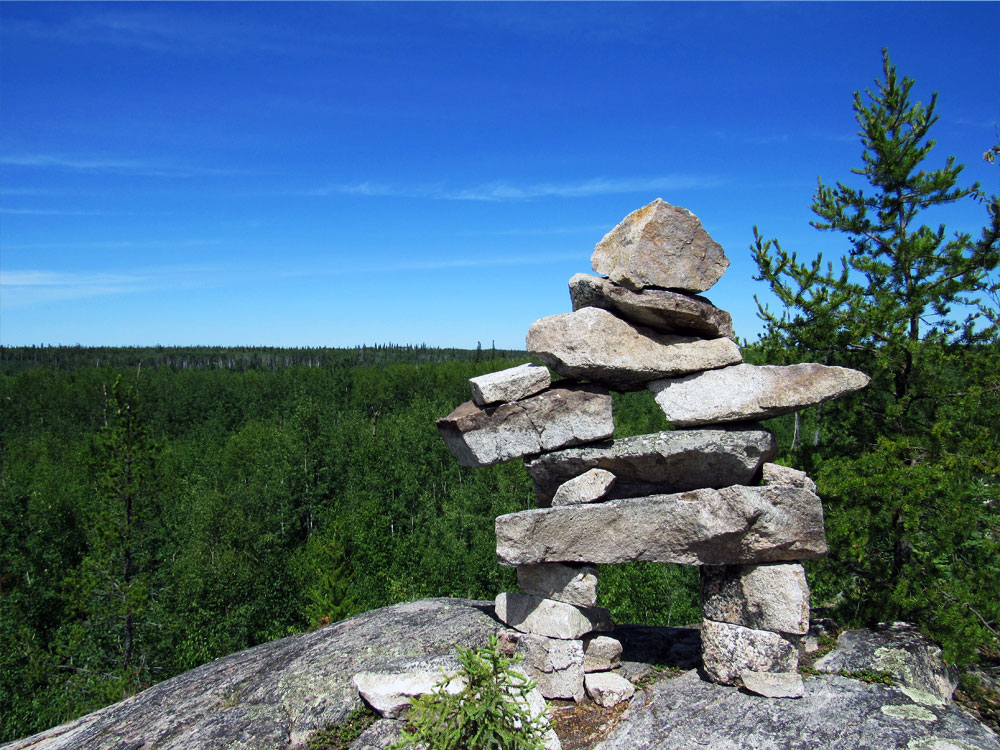 Nut Point Trail Inukshu