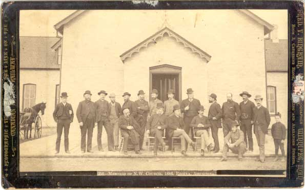 North West Territorial Council circa 1886