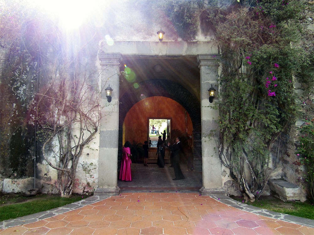 Backdoor of Hacienda San Juan Bautista Amalucan