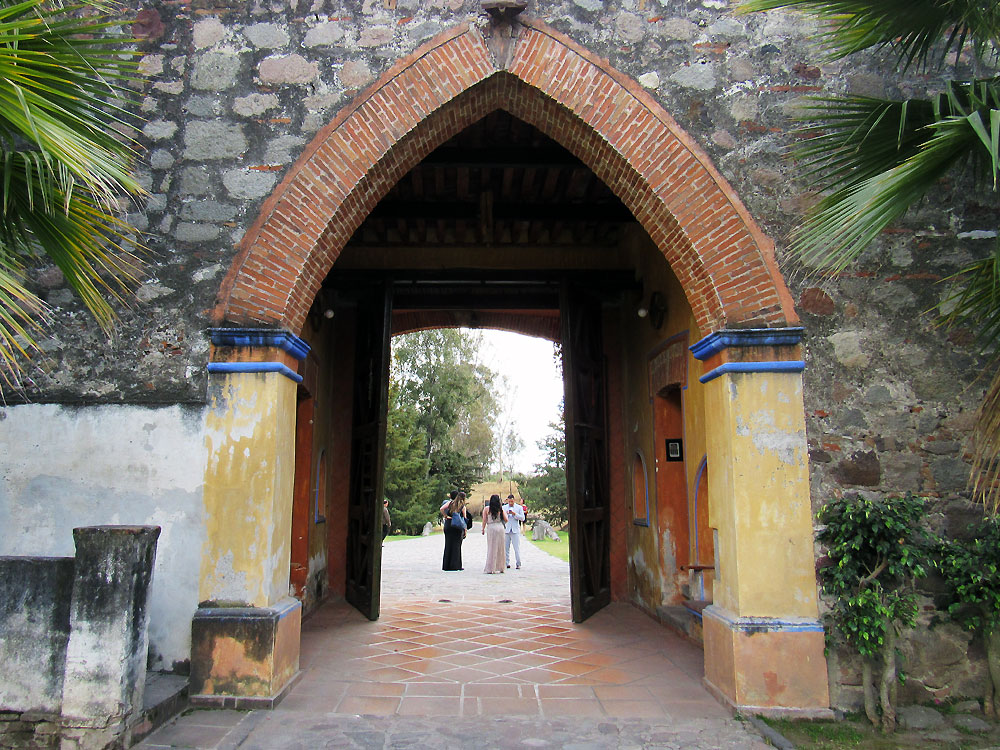 Arch in church courtyard