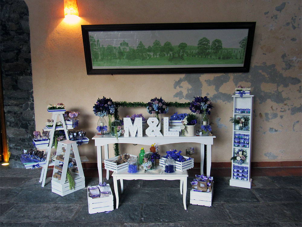 Wedding display for Mari and Luis