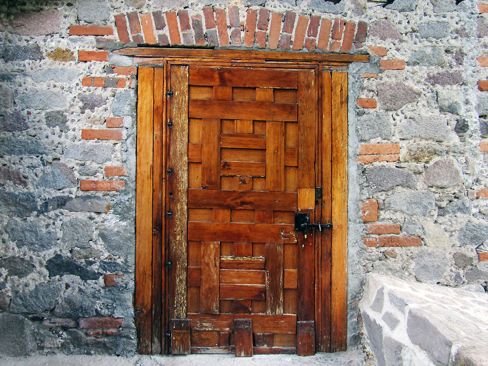 Door in courtyard