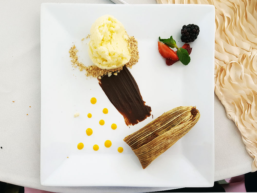 chocolate tamale and rice pudding ice cream