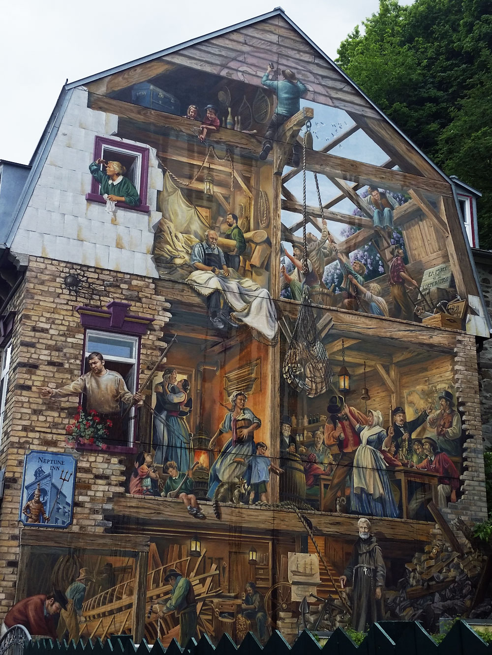Mural in Basse-Ville, Quebec City