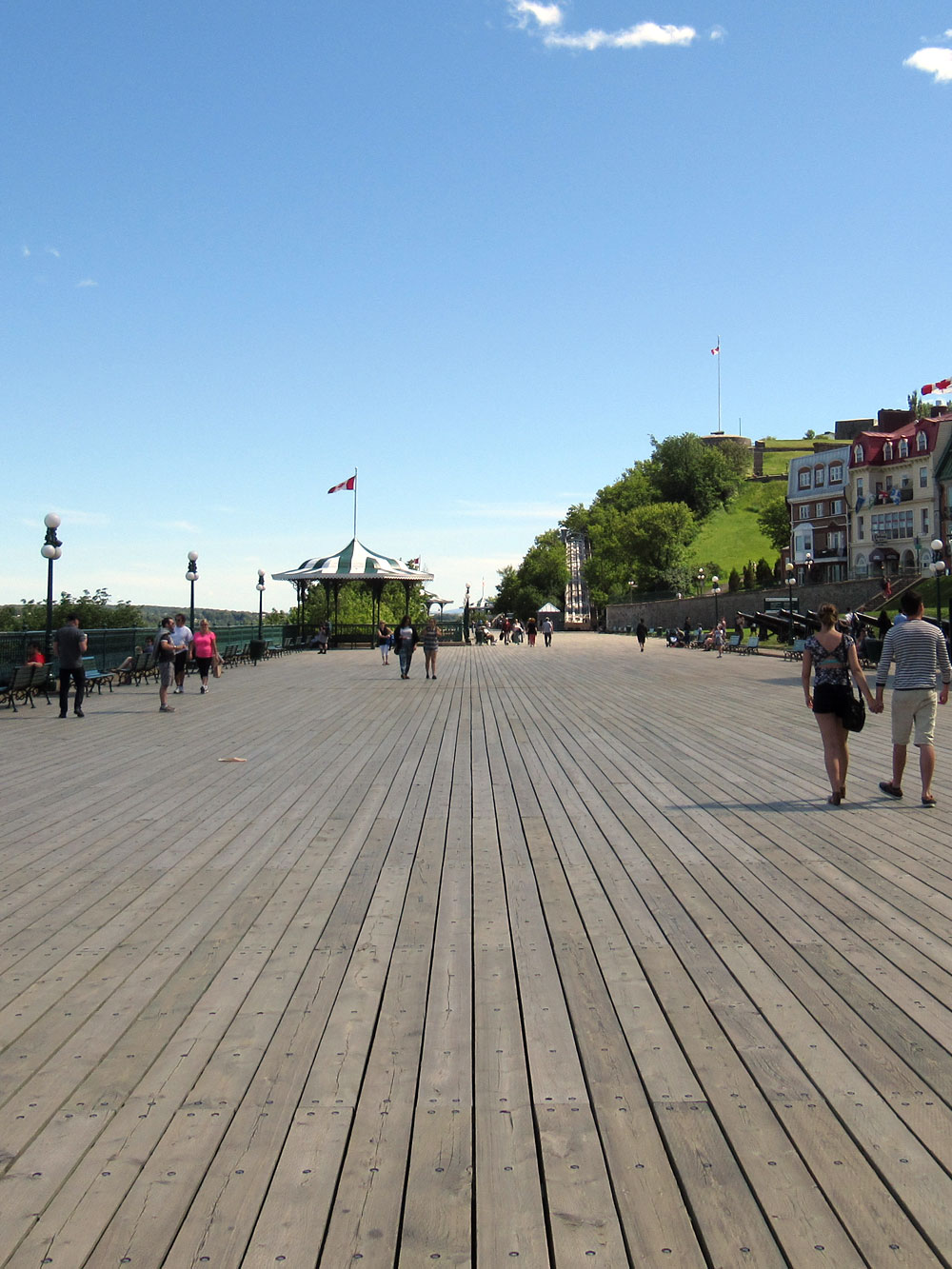 Terrace around Château Frontenac in Quebec City