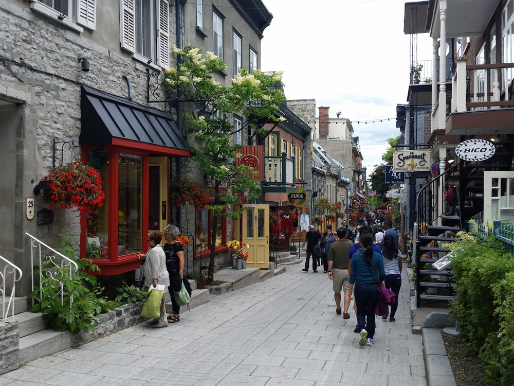 Some shops in Basse-Ville, Quebec City