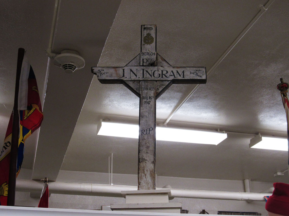 JN Ingram's cross from World War I