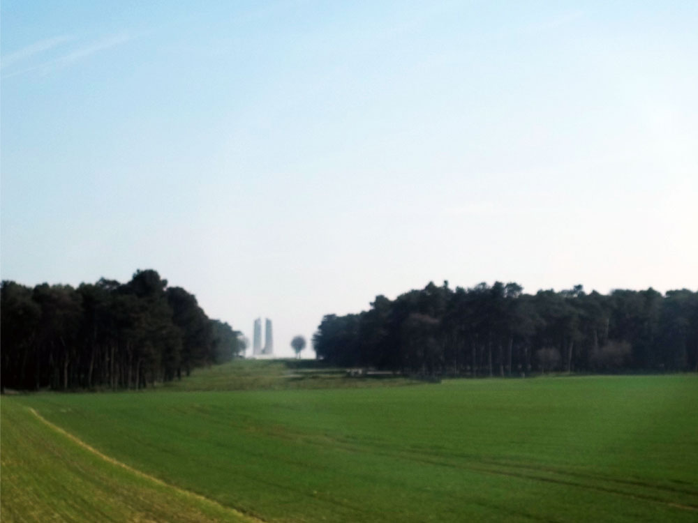 Vimy Ridge from highway in passing