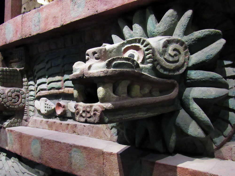 Temple of the Feathered Serpent at the National Museum of Anthropology