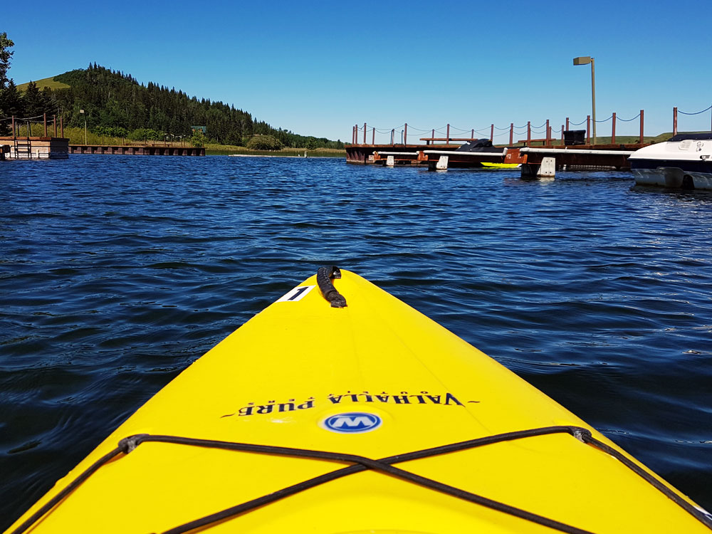 Going kayaking in Cypress Hills