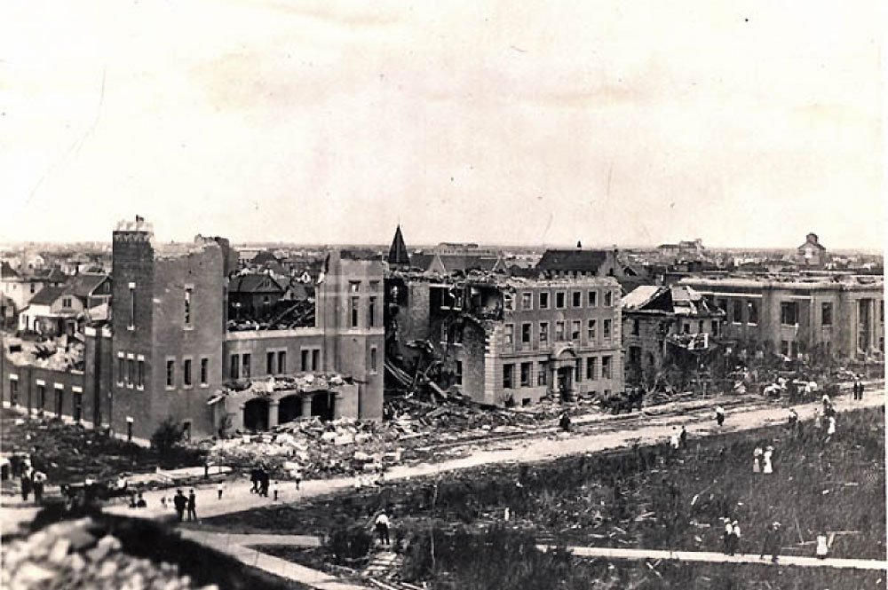Regina church after cyclone 1912