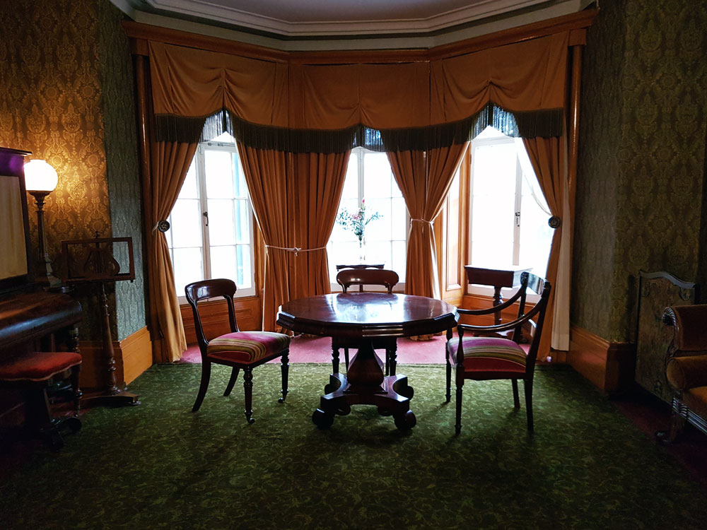 Dining room in Bellevue House