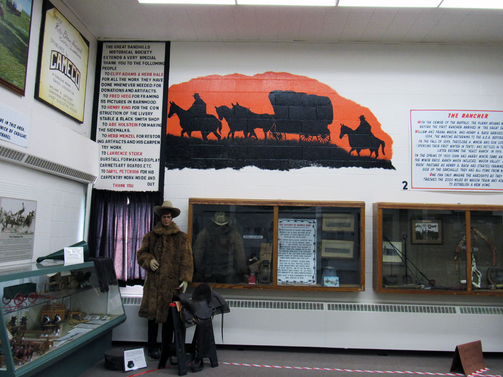 Inside Great Sandhills Museum & Interpretive Centre