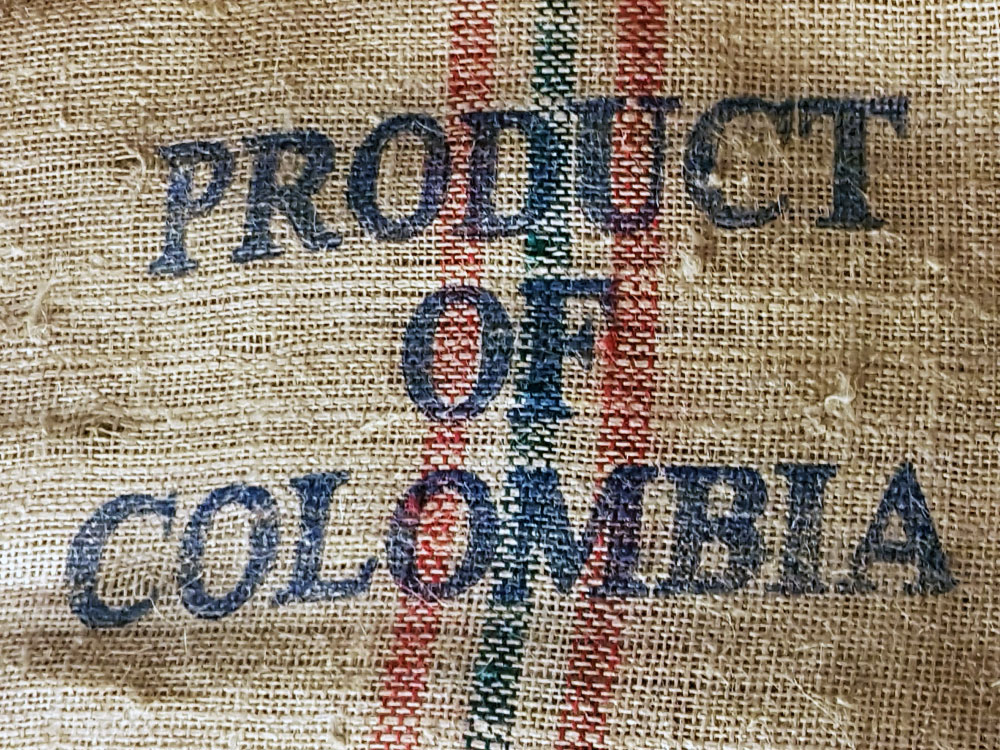 Coffee beans from Columbia