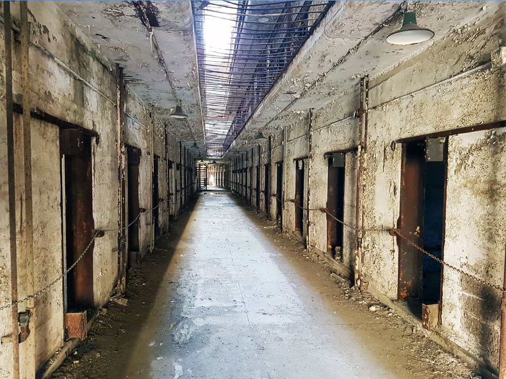 Hallways of Eastern State Penitentiary