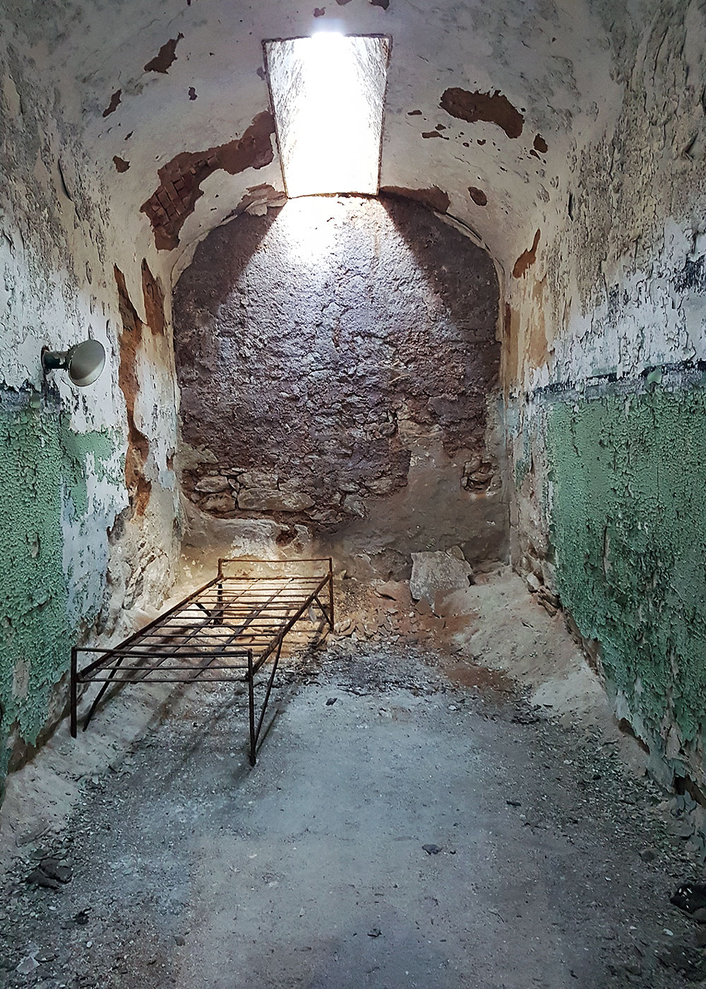 Inside cell at Eastern State Penitentiary