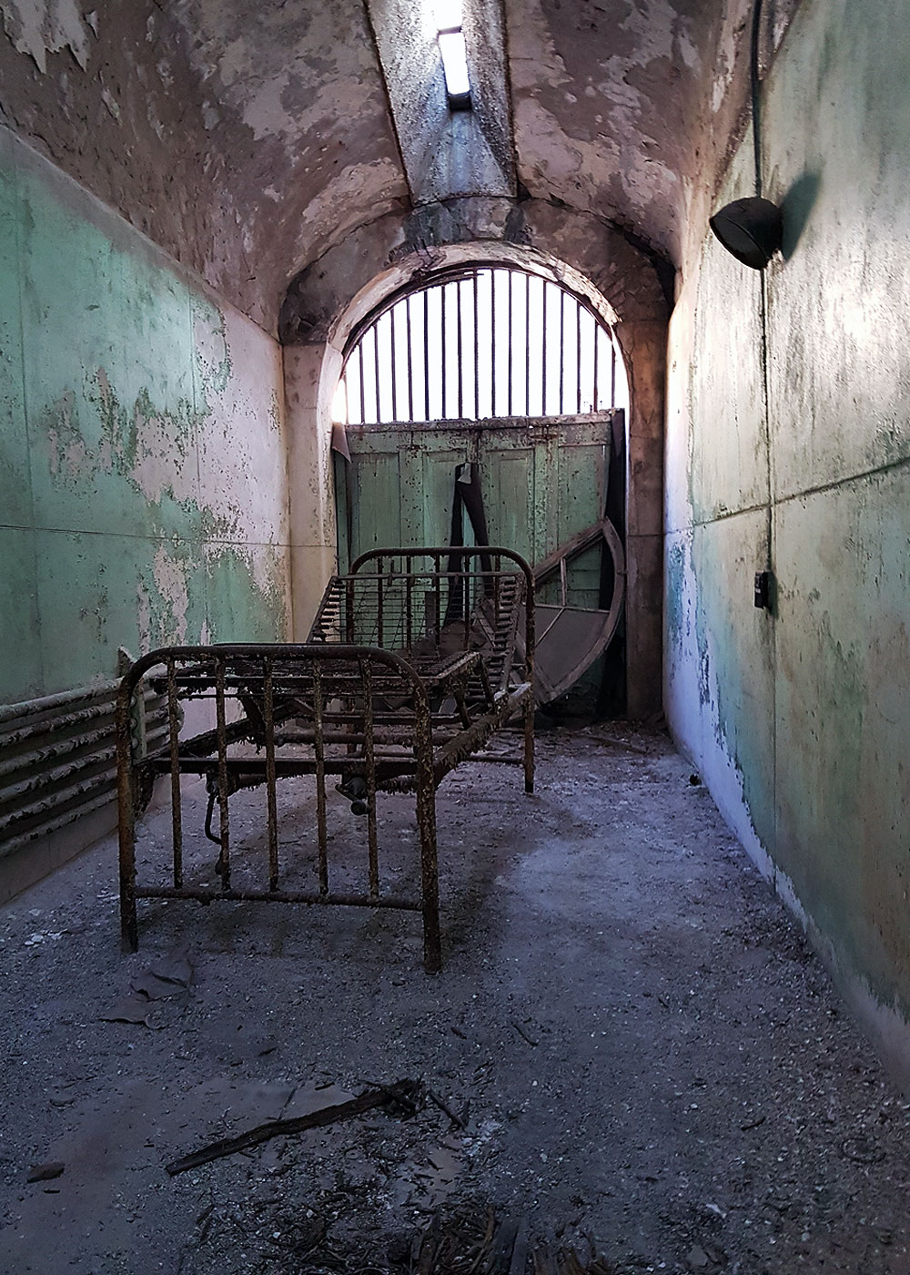 Inside another cell at Eastern State Penitentiary
