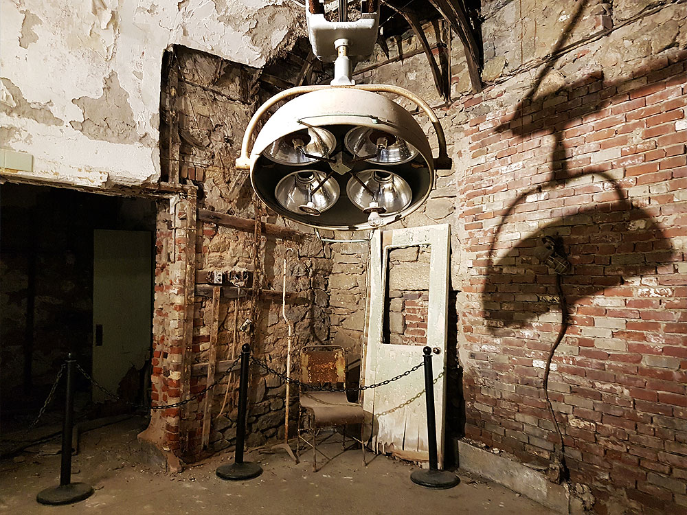 Surgery room at Eastern State Penitentiary
