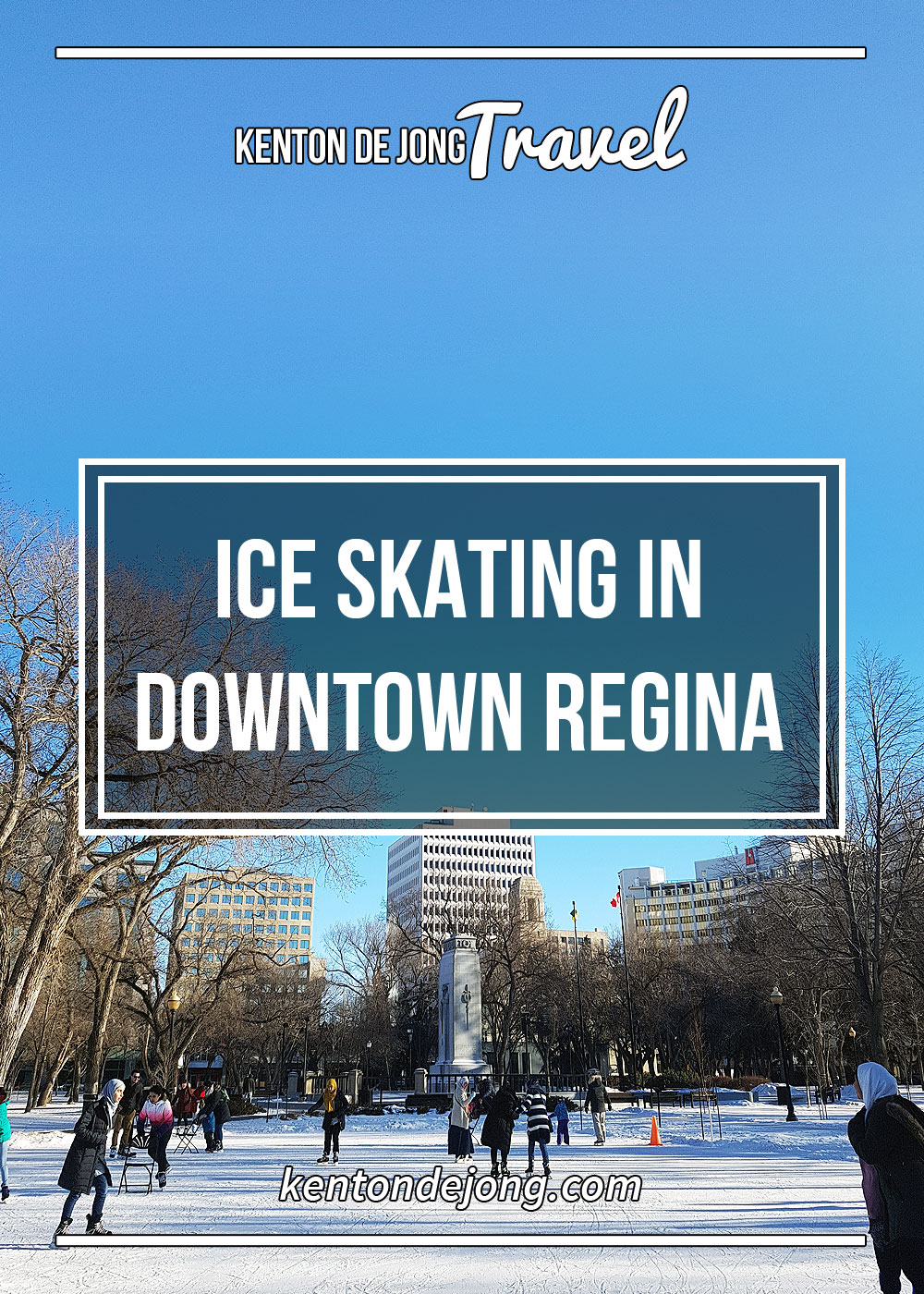 Skating in Downtown Regina