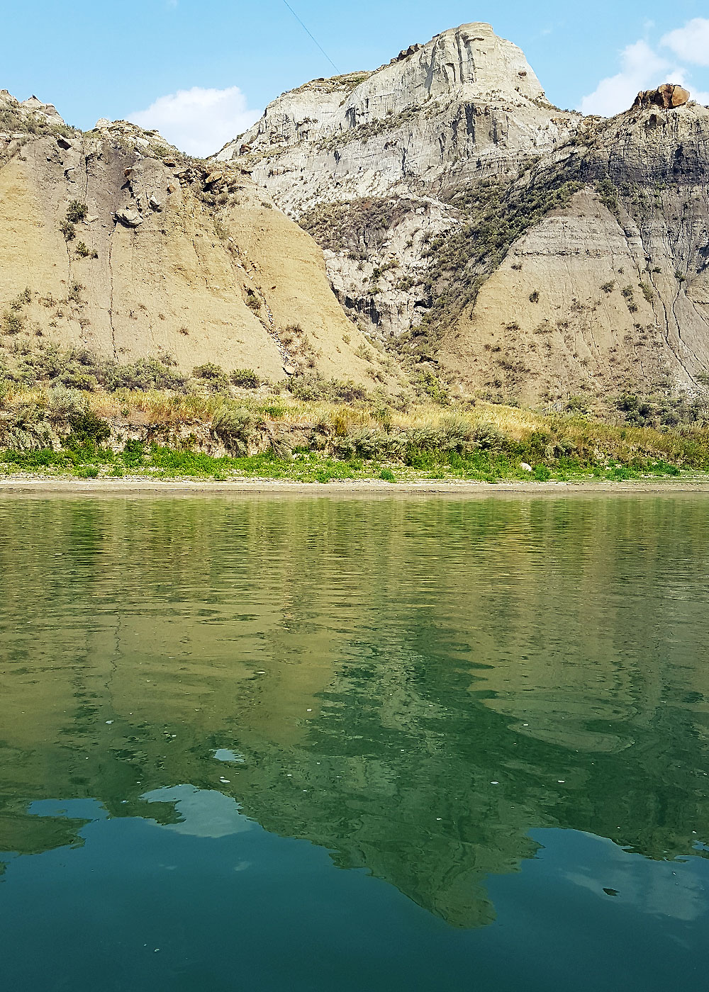 Valley walls around South Saskatchewan River