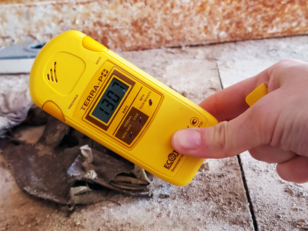 Geiger counter in Chernobyl