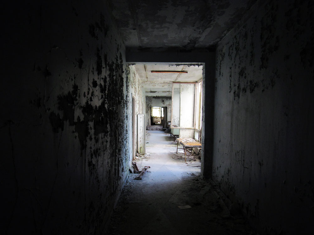Hallway in Chernobyl hospital