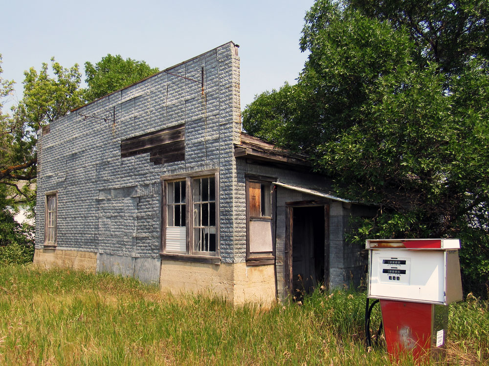 Old gas station in Saskatchewan