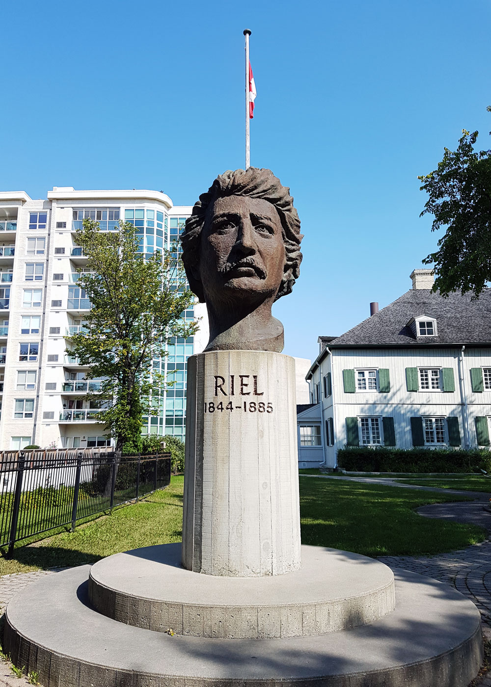 Another statue of Riel
